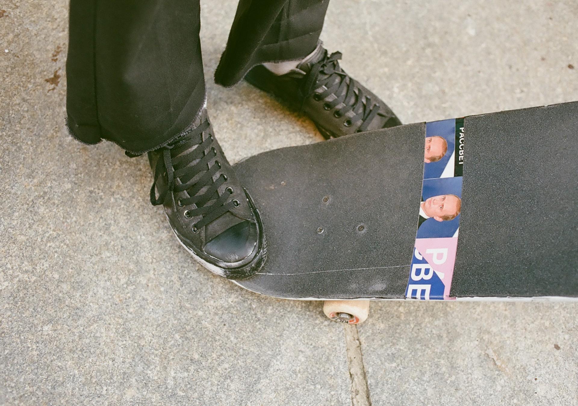 Percevalties Gosha et Paccbet : le skate pas bête